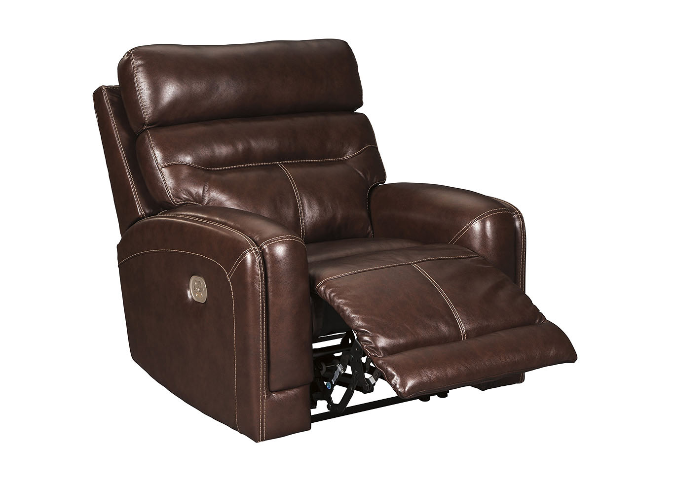 Sessom Walnut Power Recliner w/Adjustable Headrest,Signature Design By Ashley