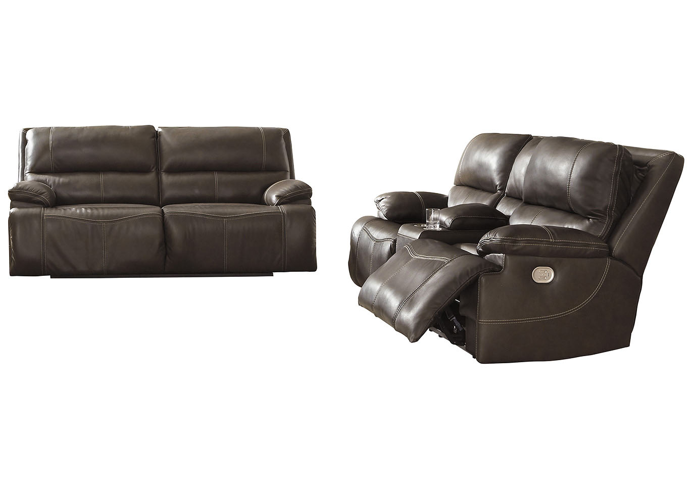 Excellent Ivan Smith Ricmen Walnut Power Reclining Sofa And Loveseat Ibusinesslaw Wood Chair Design Ideas Ibusinesslaworg