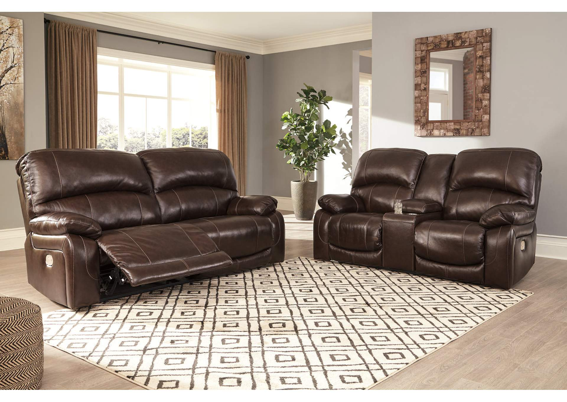 Country House Furniture Hallstrung Chocolate Power Reclining Sofa ...