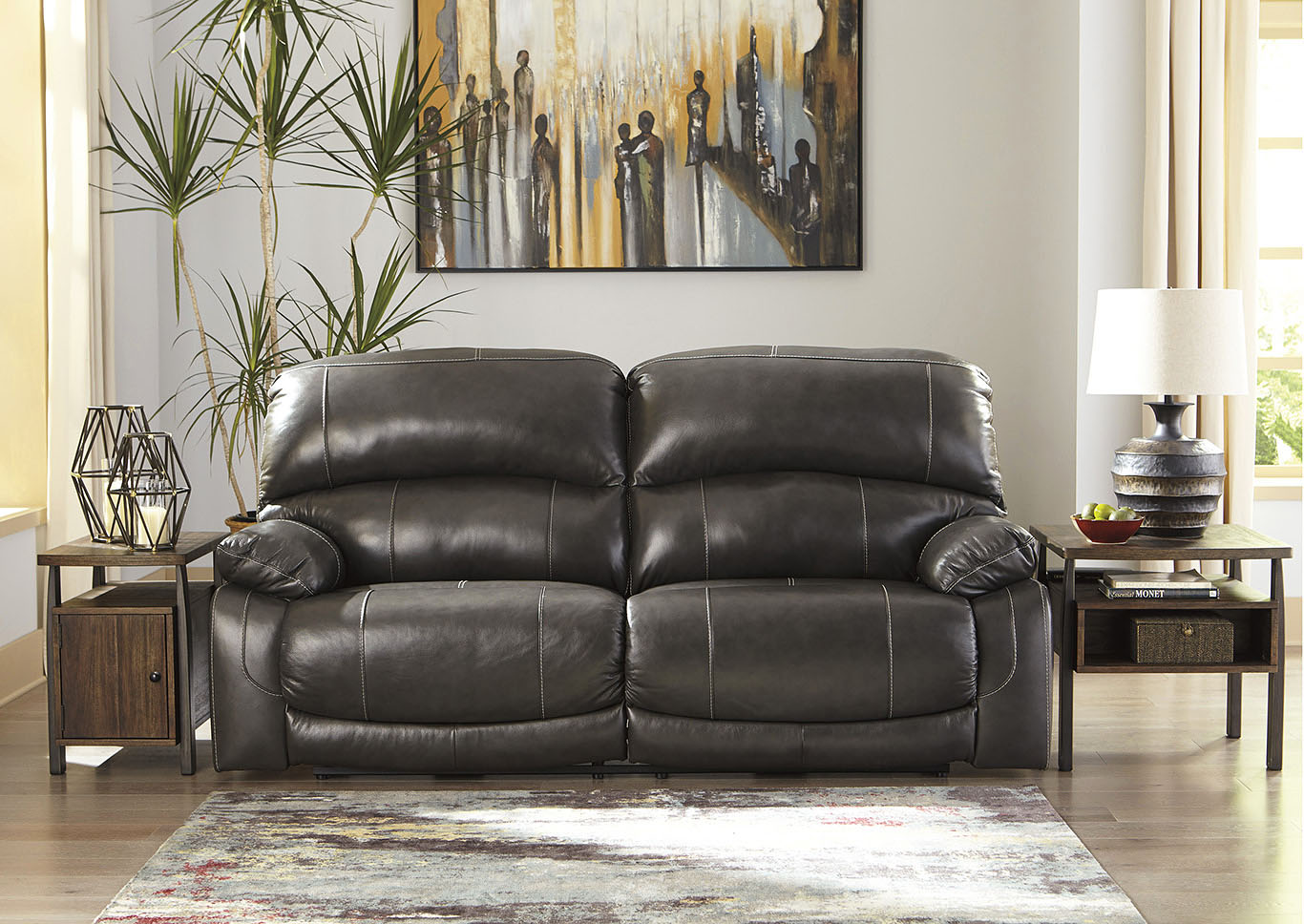 Hallstrung Gray 2 Seat Reclining Power Sofa,Signature Design By Ashley
