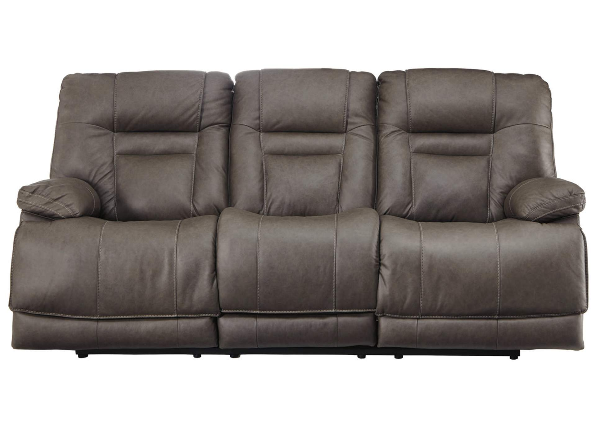 Wurstrow Smoke Power Reclining Sofa w/Adjustable Headrest,Signature Design By Ashley