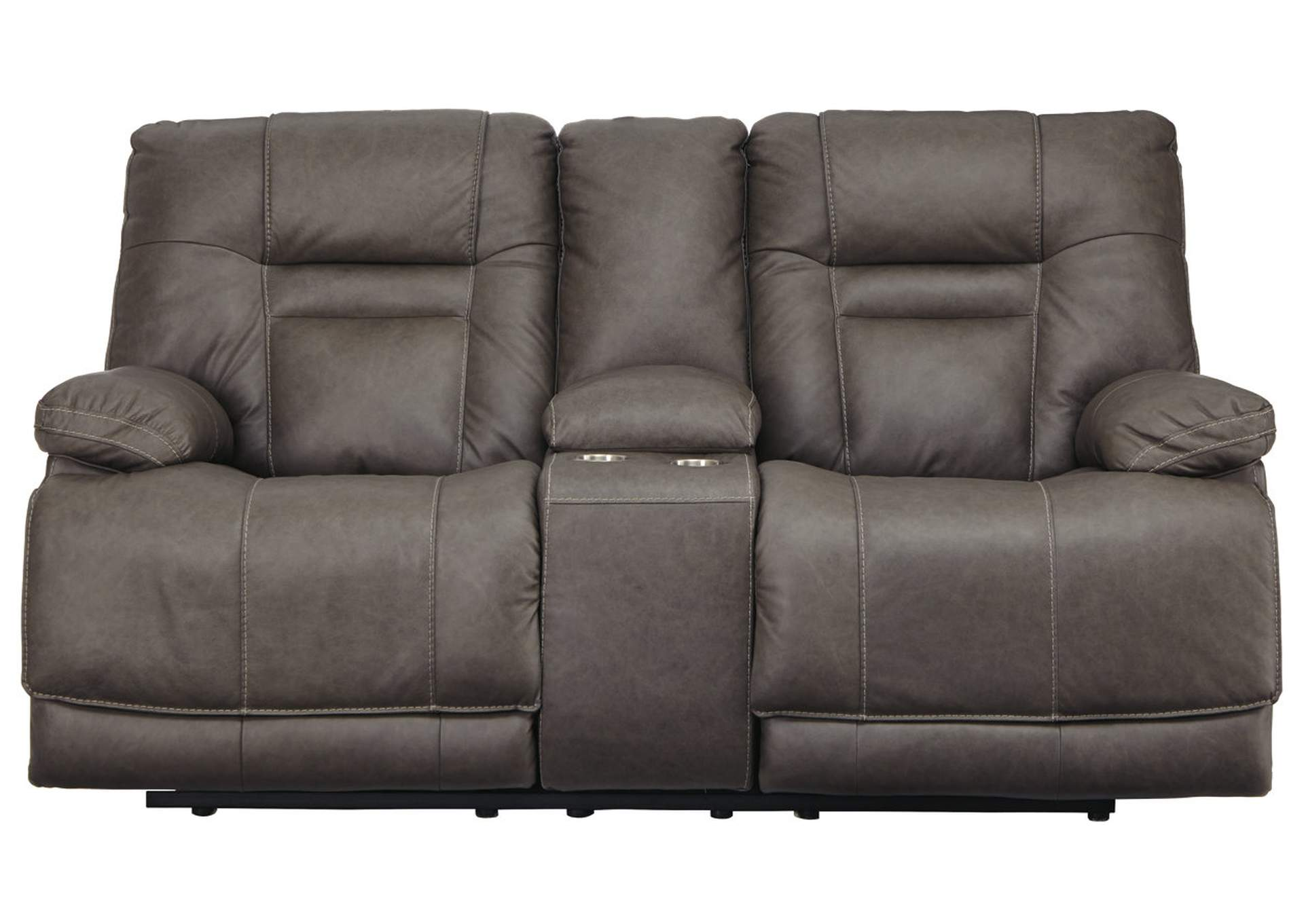 Admirable Ivan Smith Wurstrow Smoke Power Reclining Loveseat W Console Ibusinesslaw Wood Chair Design Ideas Ibusinesslaworg
