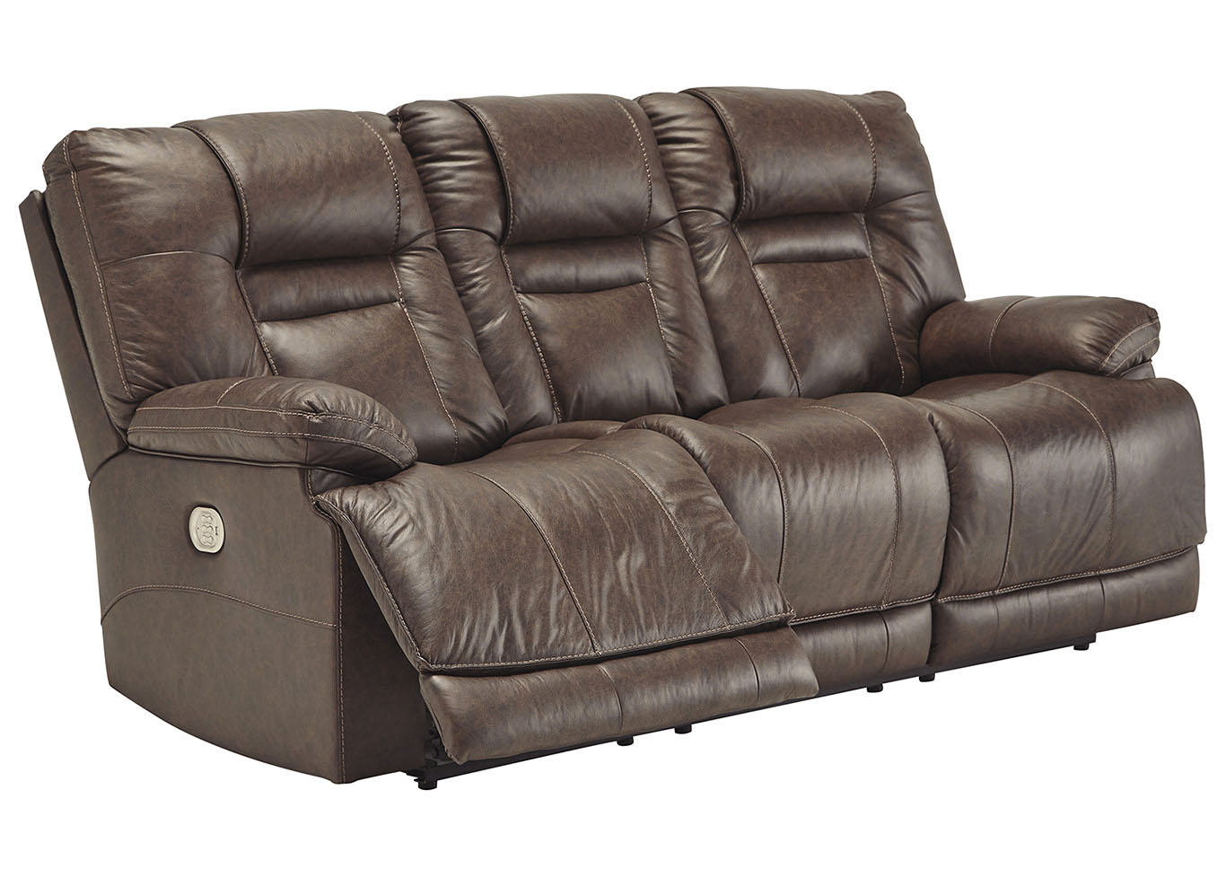 Wurstrow Umber Power Reclining Sofa w/Adjustable Headrest,Signature Design By Ashley