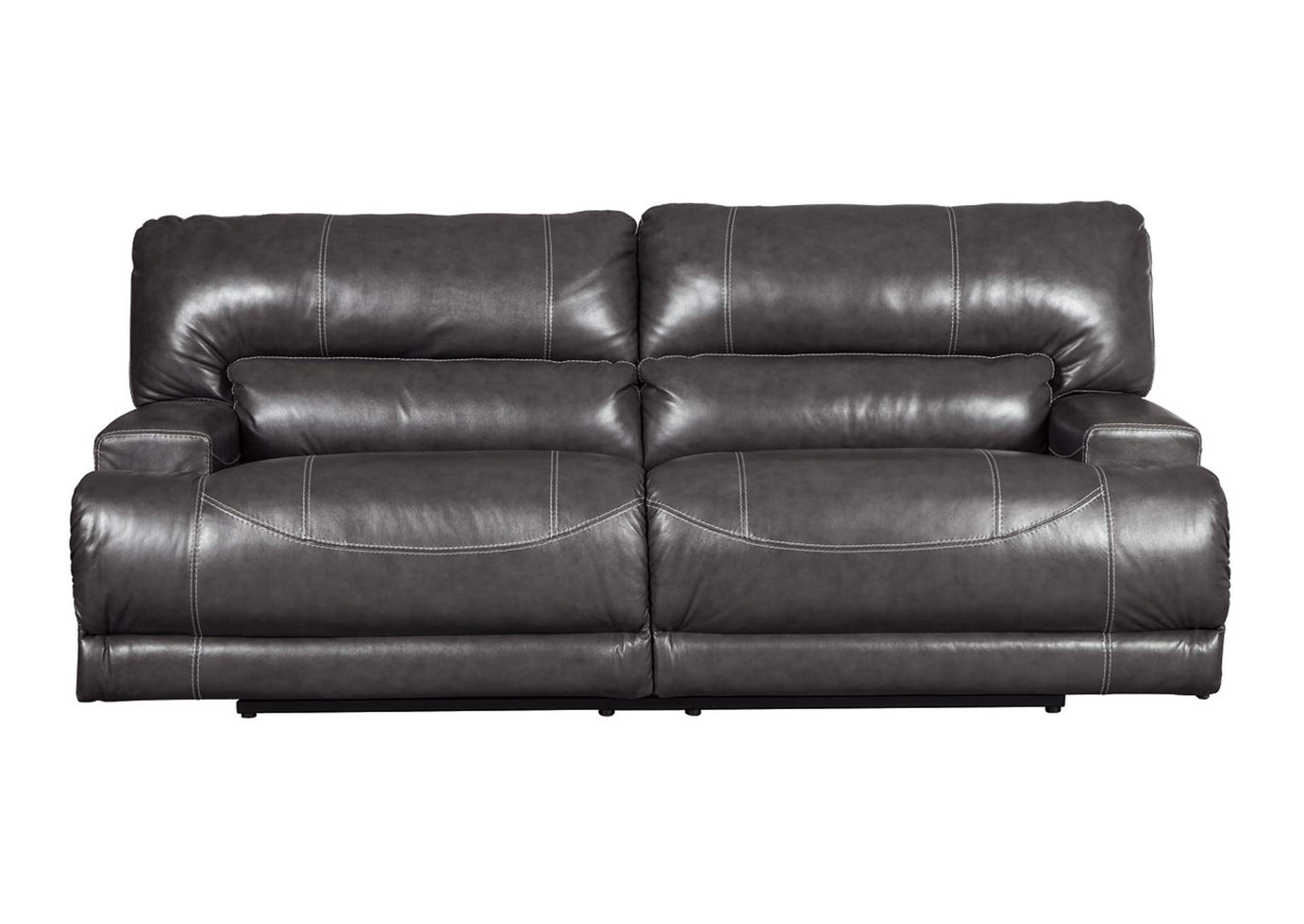Furniture Discount Warehouse Mccaskill Gray 2 Seat Power Reclining Sofa