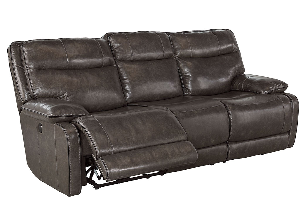 Palladum Metal Power Reclining Sofa,Signature Design By Ashley