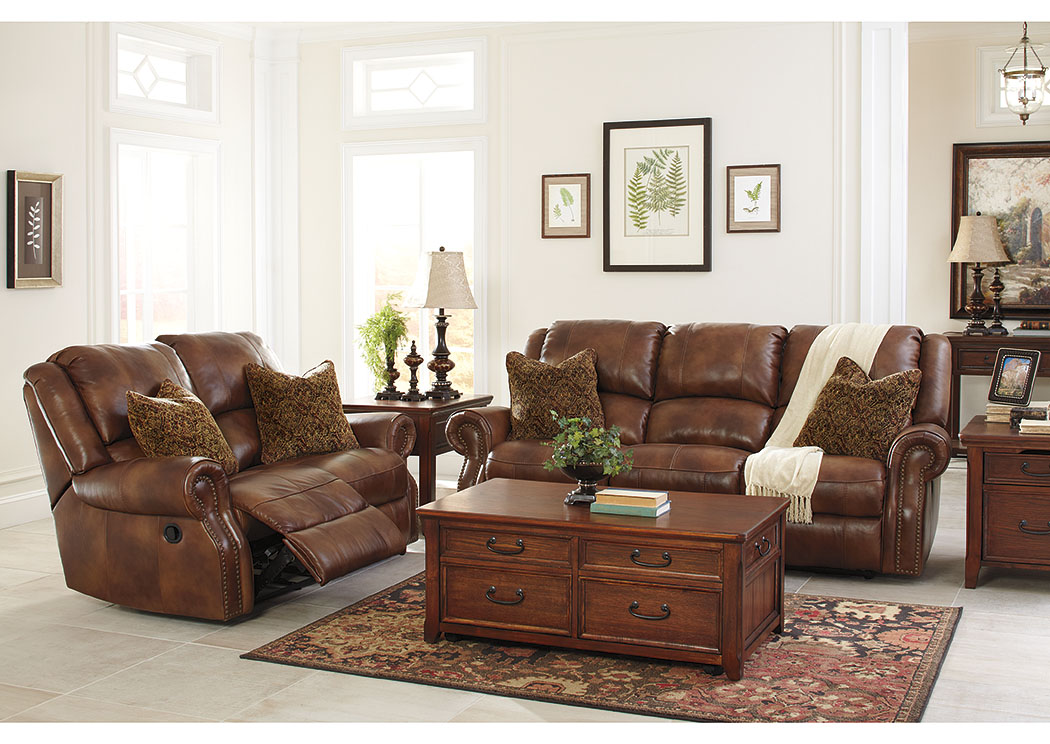 Walworth Auburn Reclining Sofa & Loveseat,Signature Design By Ashley