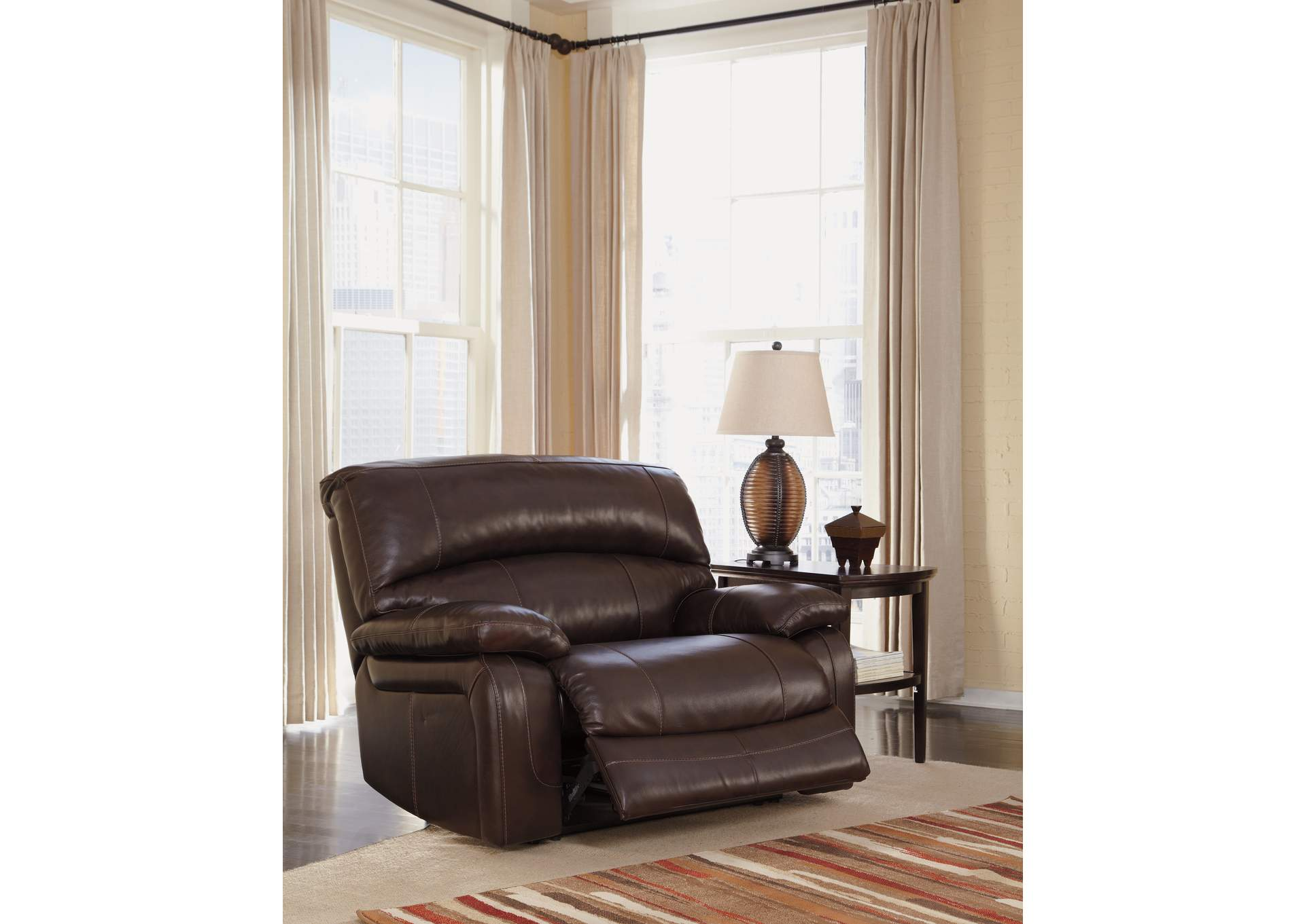 wide living room chair w a akins amp sons damacio dark brown zero wall power wide 22150 | U98200 82 OPEN