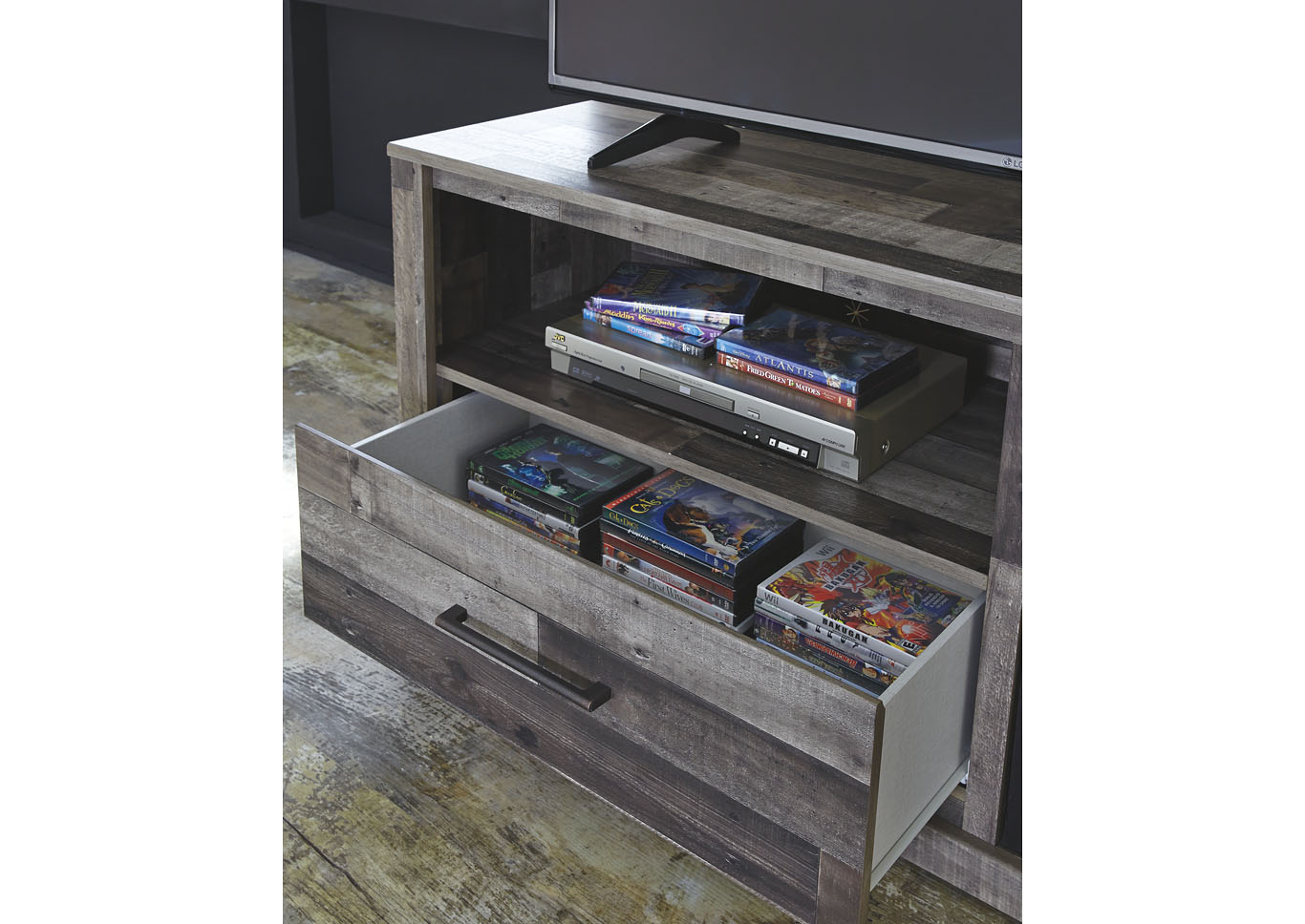 "Derekson Multi Gray 59"" TV Stand w/Fireplace Insert Infrared,Signature Design By Ashley"