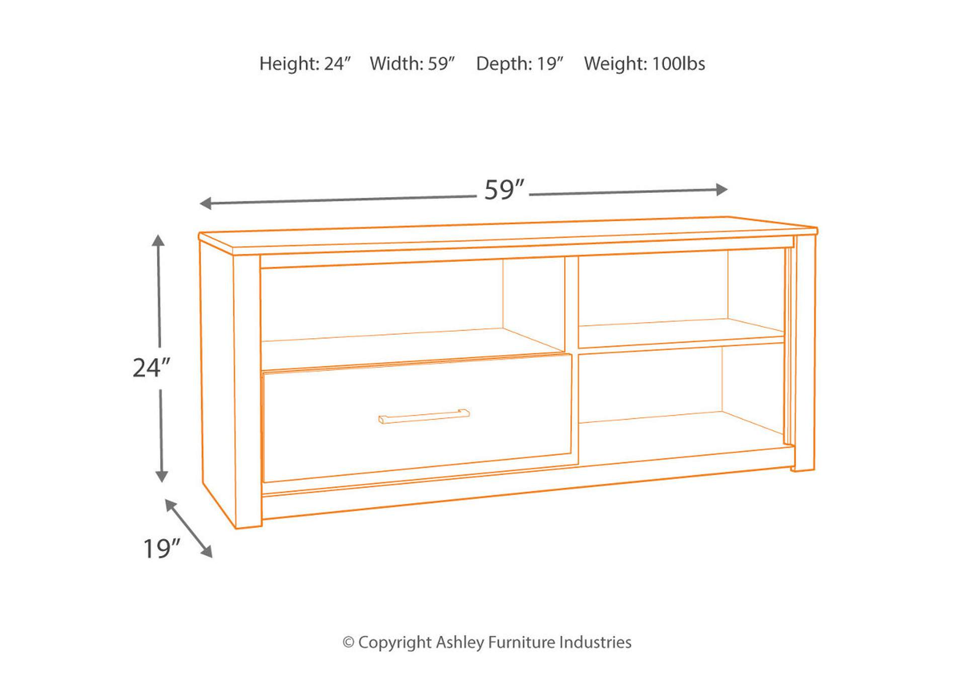 "Derekson Multi Gray 59"" TV Stand,Signature Design By Ashley"