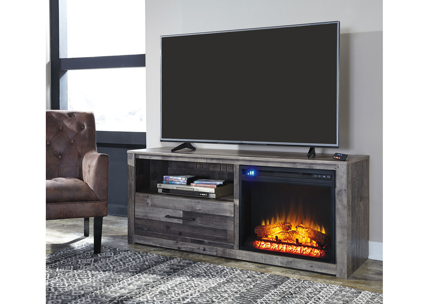 Derekson Multi LG TV Stand w/Fireplace,Signature Design By Ashley