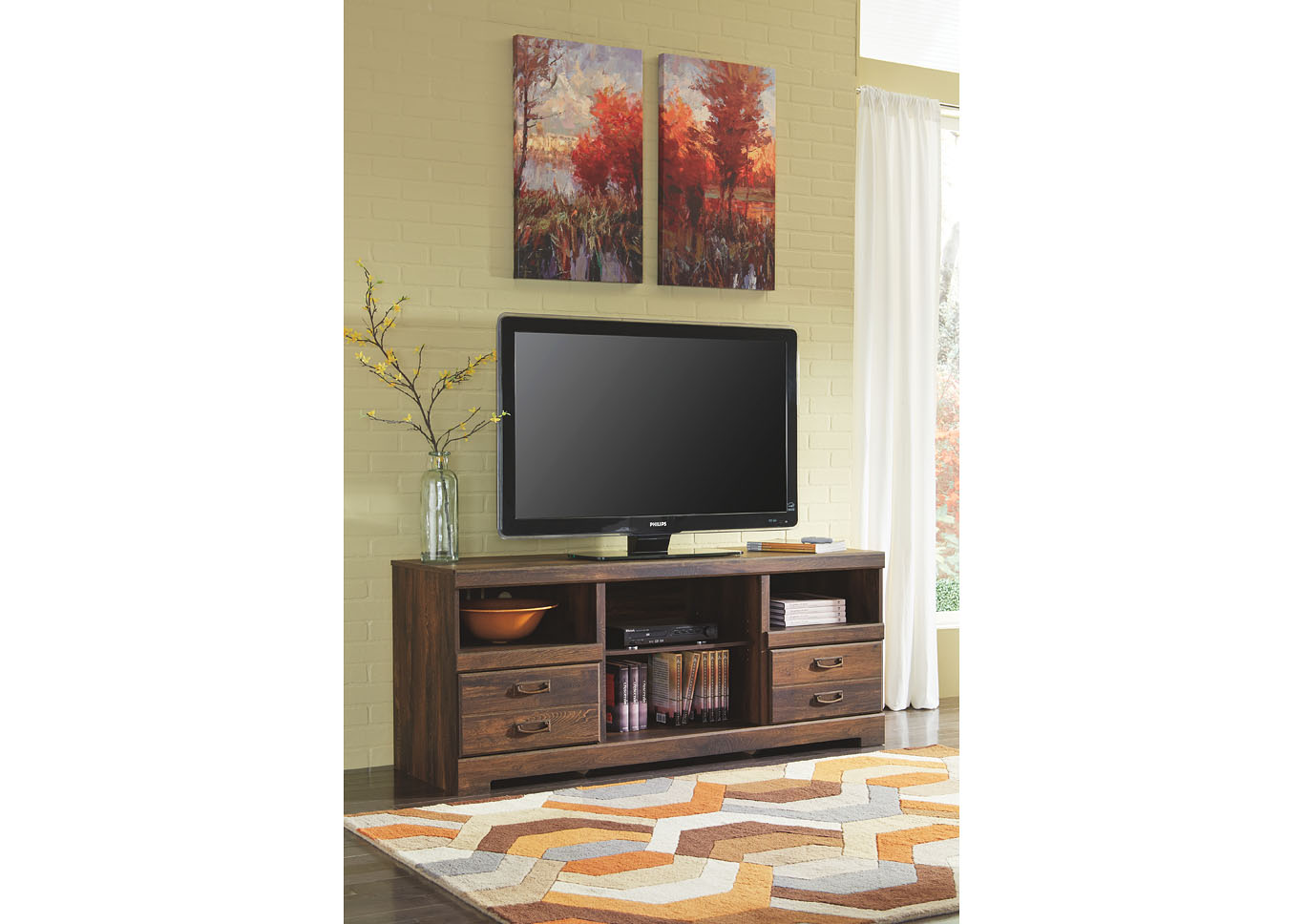 Quinden Large TV Stand,ABF Signature Design by Ashley
