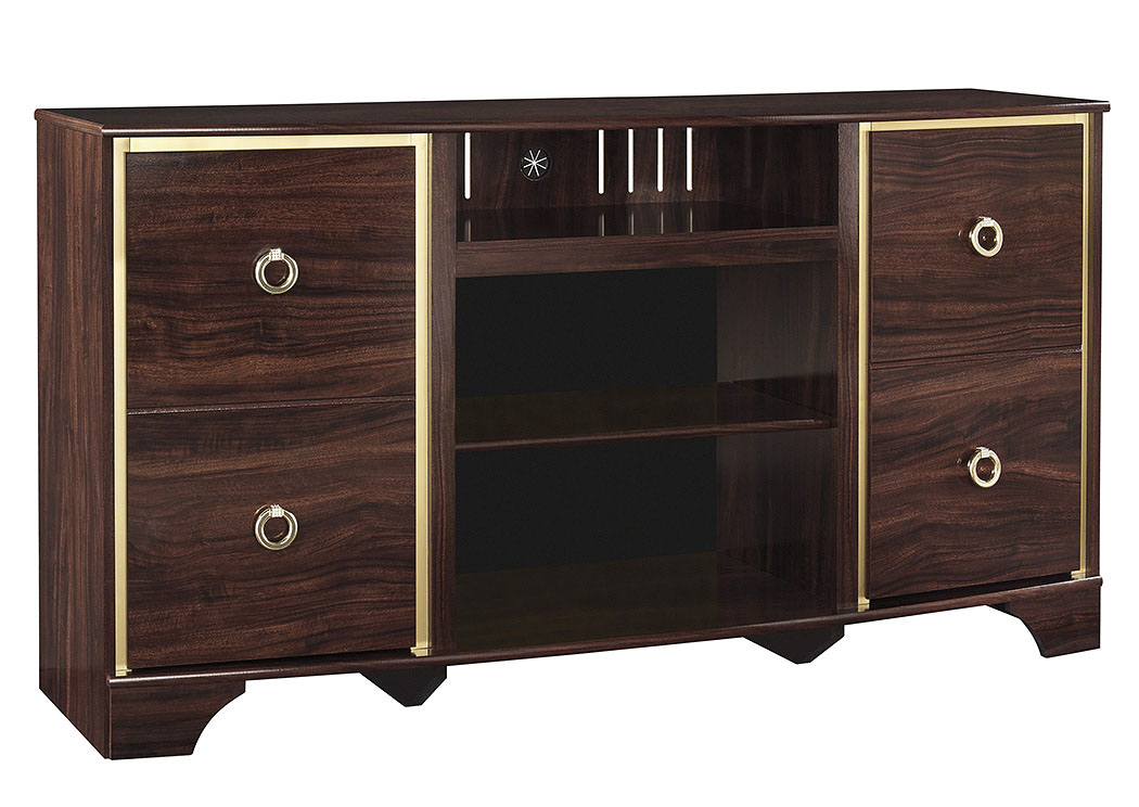 Lenmara Reddish Brown LG TV Stand,ABF Signature Design by Ashley