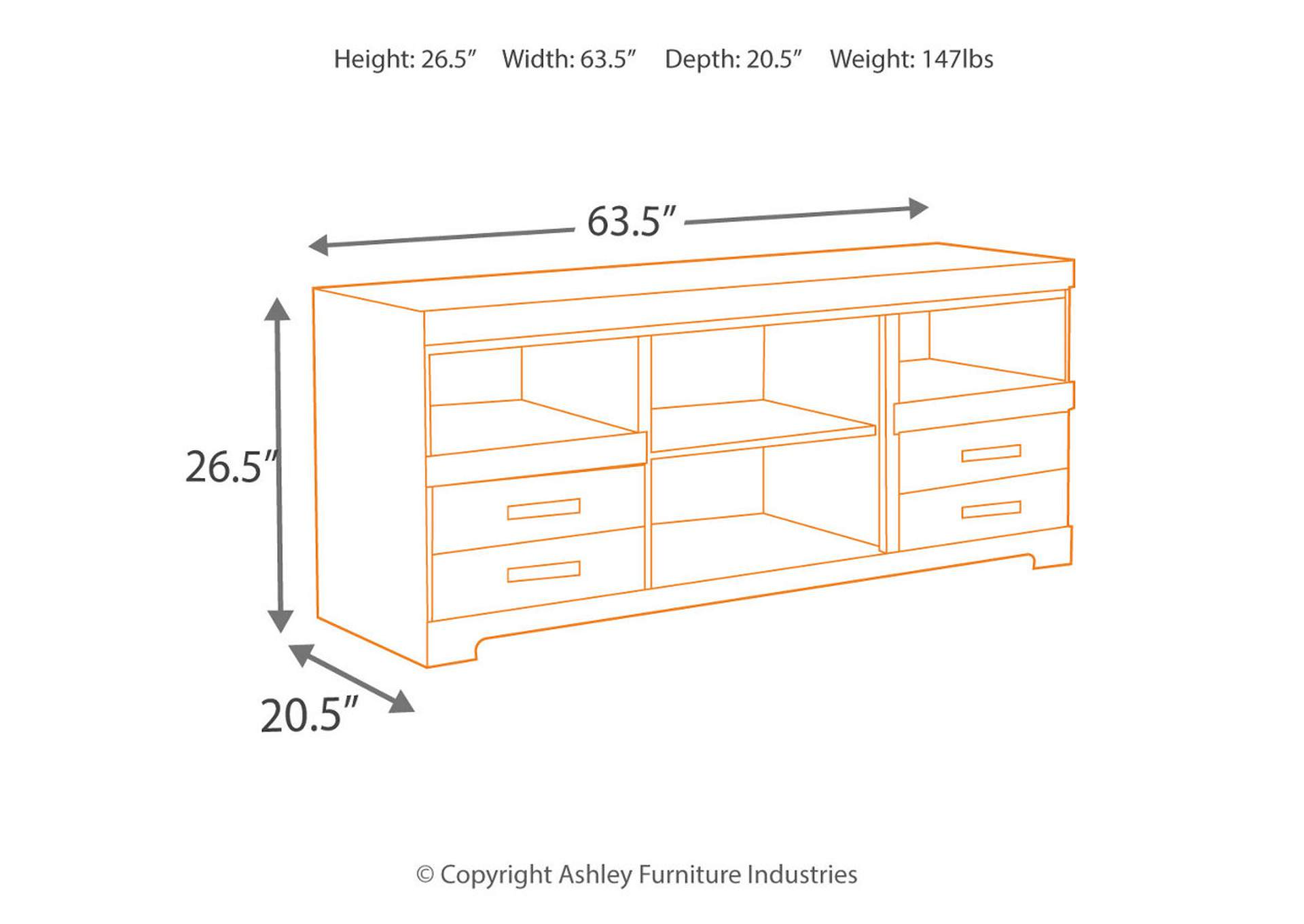 Harlinton Large TV Stand,Signature Design By Ashley