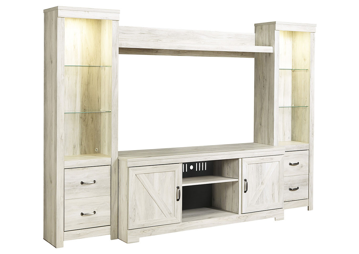 Bellaby Whitewash Entertainment Center,Signature Design By Ashley