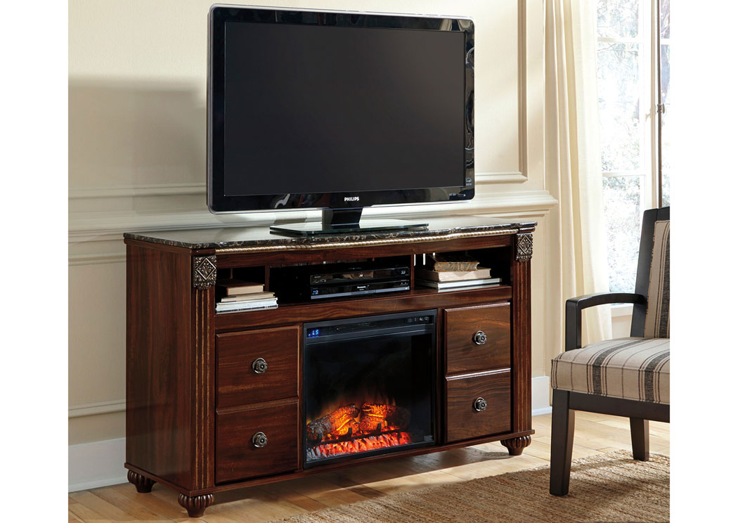 Gabriela Large TV Stand w/LED Fireplace Insert,Signature Design By Ashley