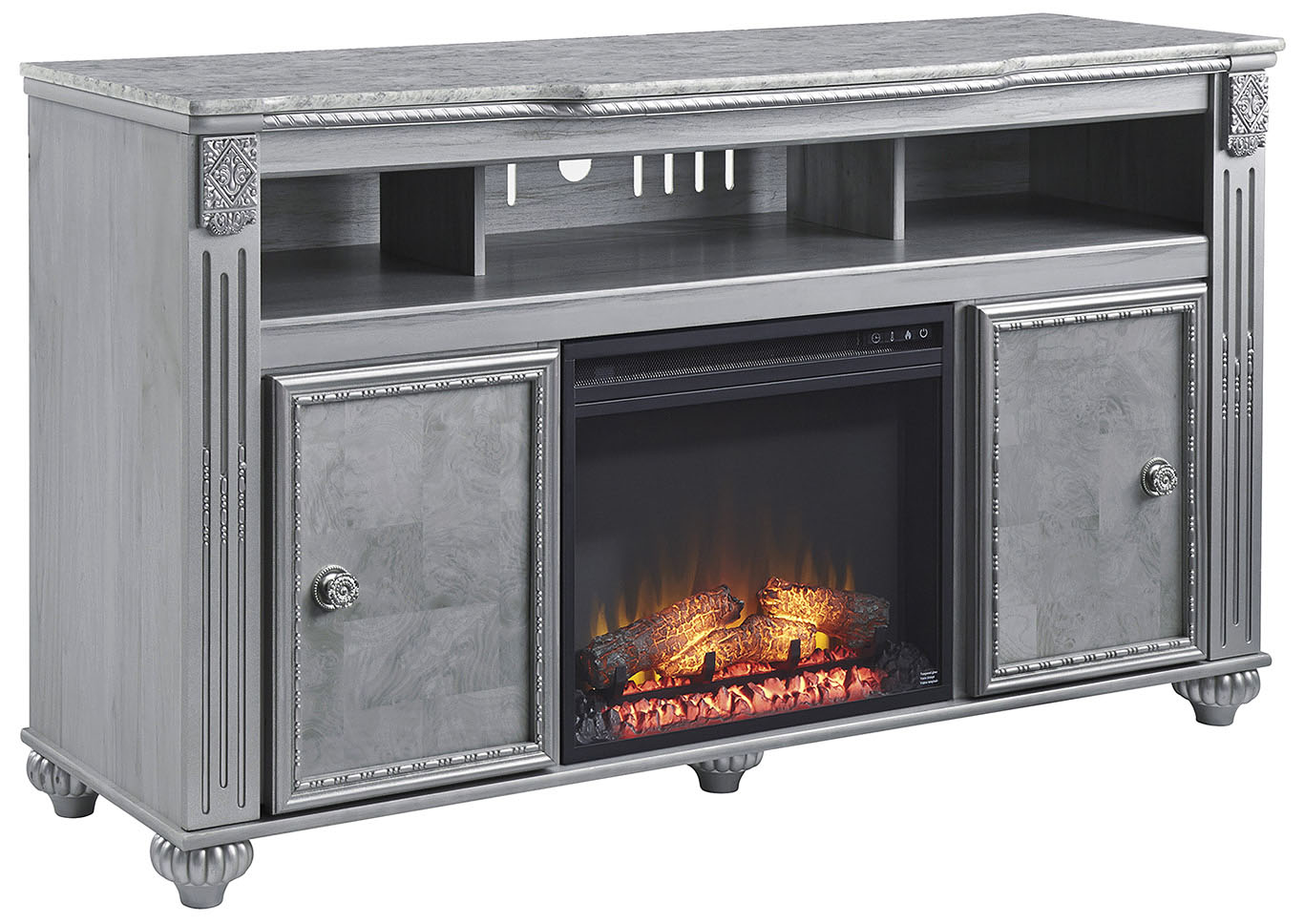 Zolena LG TV Stand w/Fireplace,Signature Design By Ashley