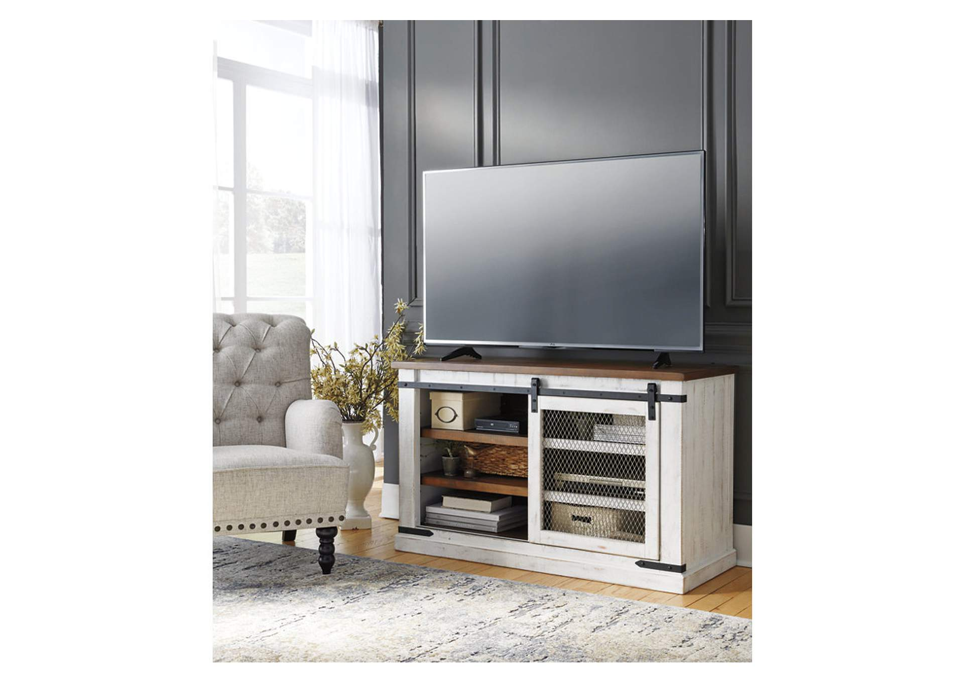 Wystfield White/Brown TV Stand,Signature Design By Ashley