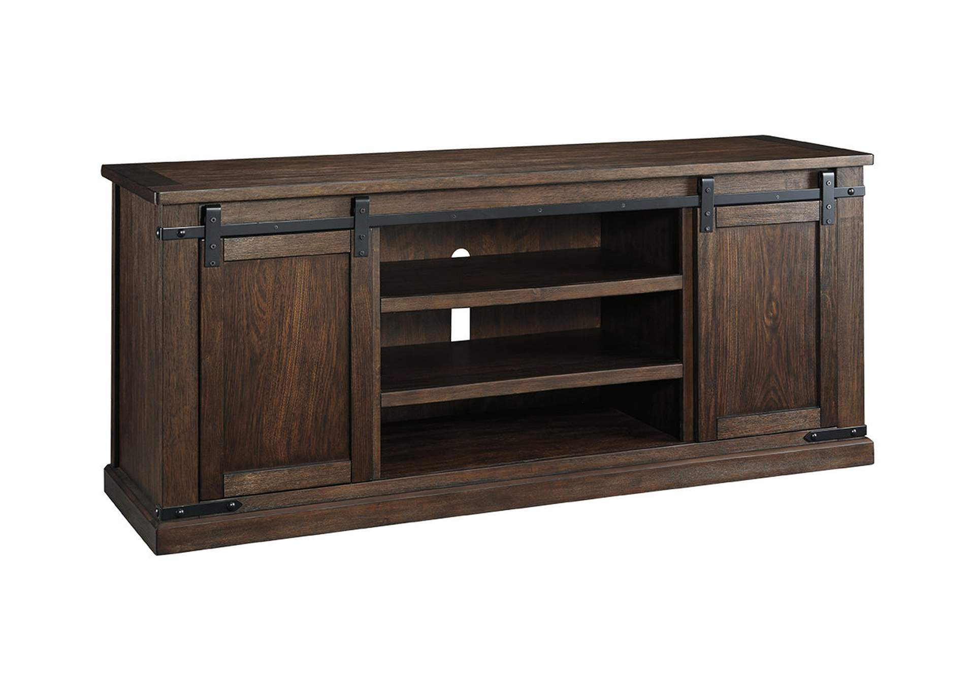 Budmore Rustic Brown Extra Large TV Stand,Signature Design By Ashley