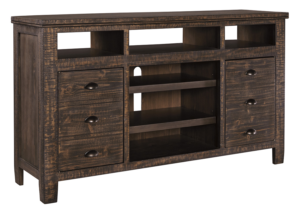 Trudell Dark Brown Extra Large TV Stand,Signature Design By Ashley