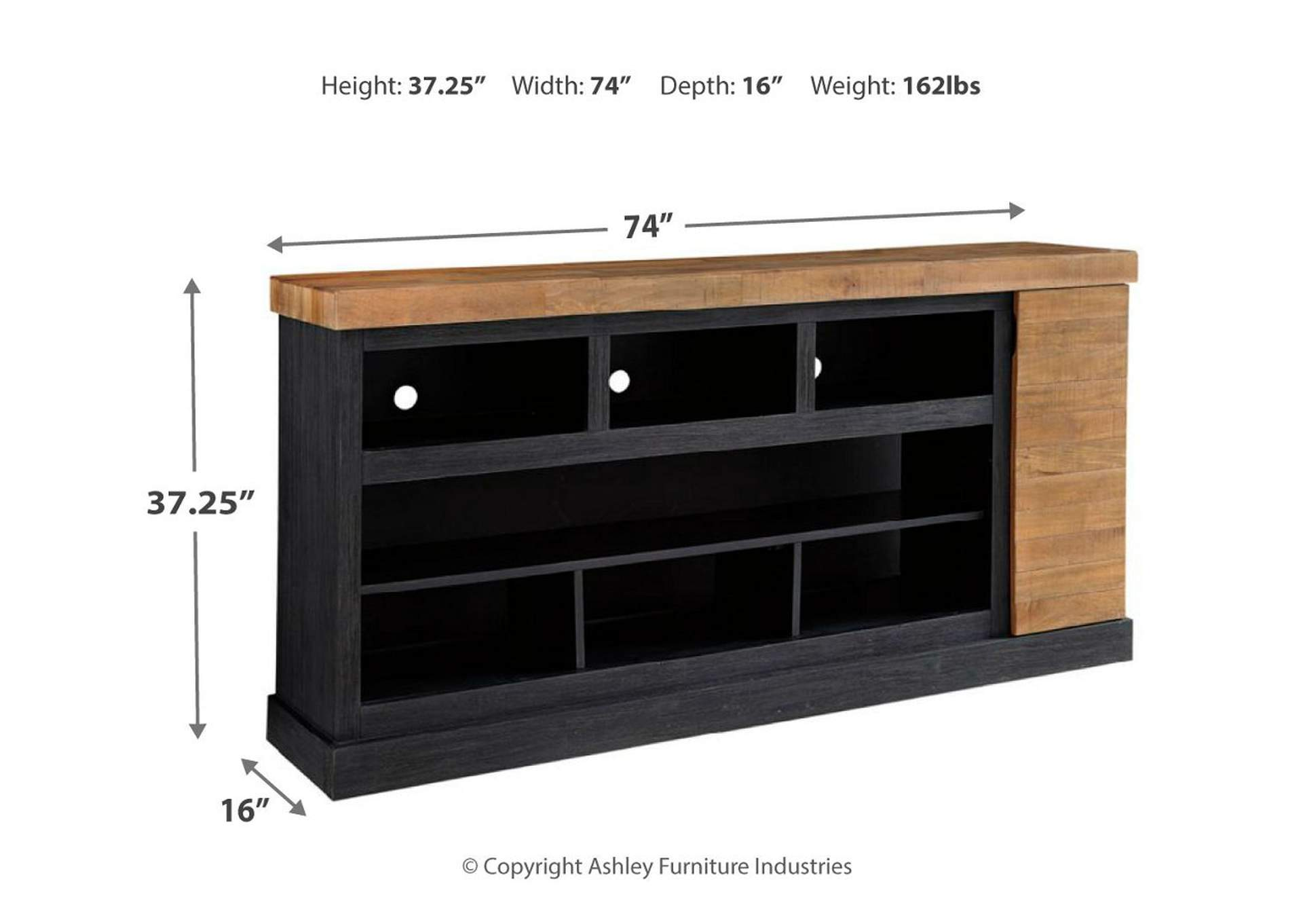 Tonnari Two Tone XL TV Stand w/Fireplace Option,Signature Design By Ashley