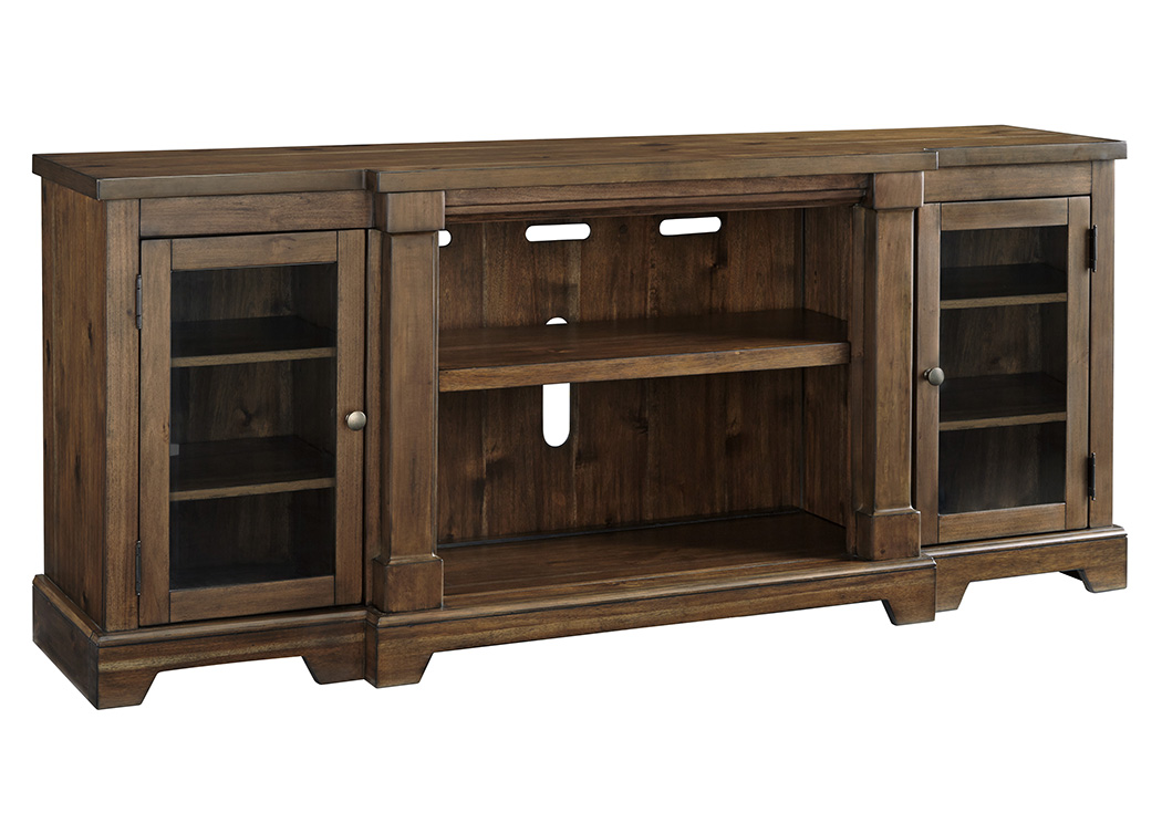 Flynnter Medium Brown XL TV Stand,Signature Design By Ashley