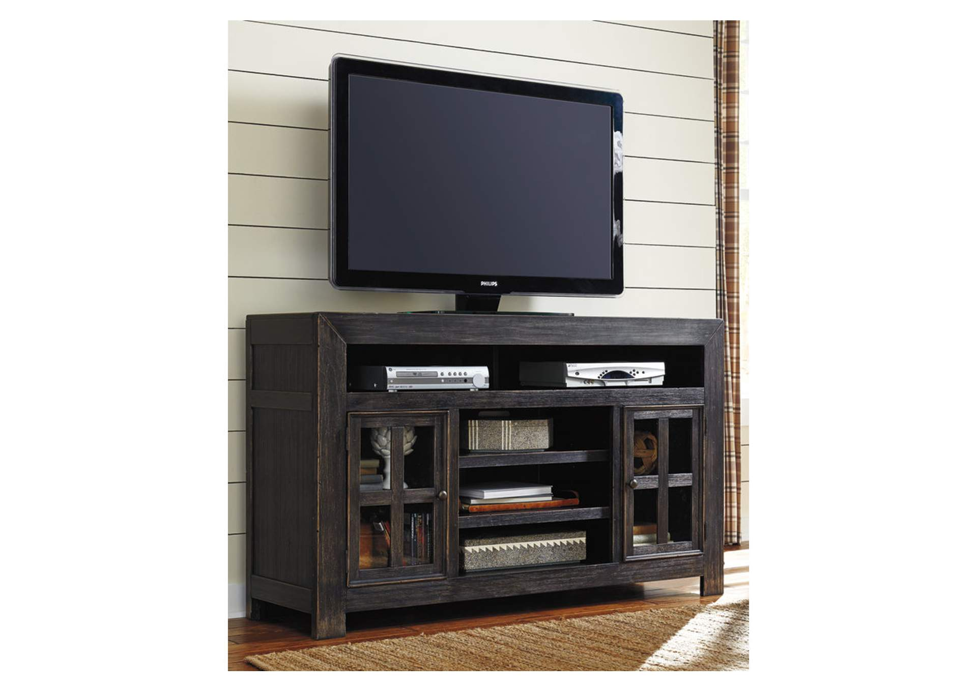 "Gavelston Black 61"" TV Stand,Signature Design By Ashley"