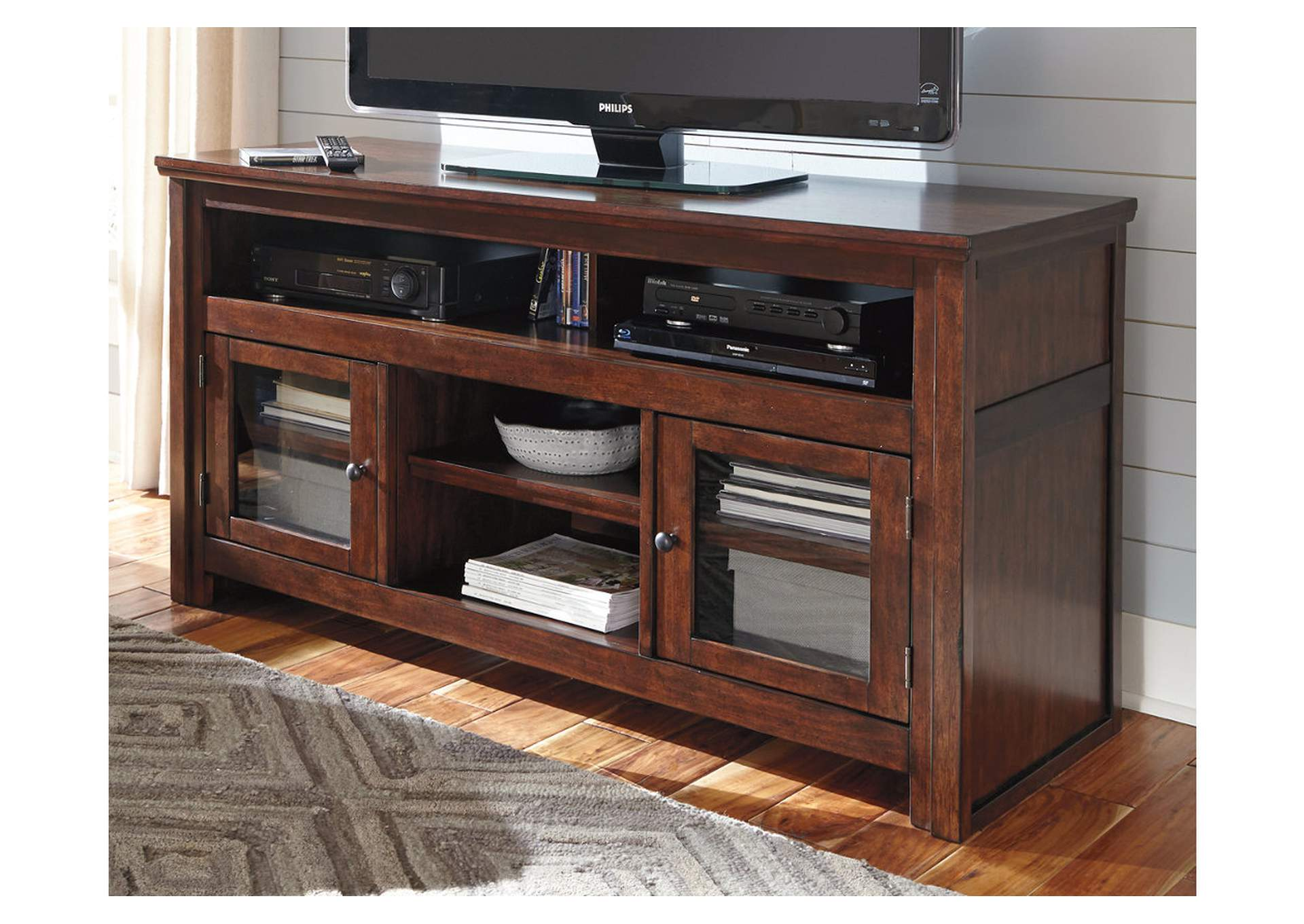 The Furniture Shop Duncanville Tx Harpan Reddish Brown Large Tv Stand