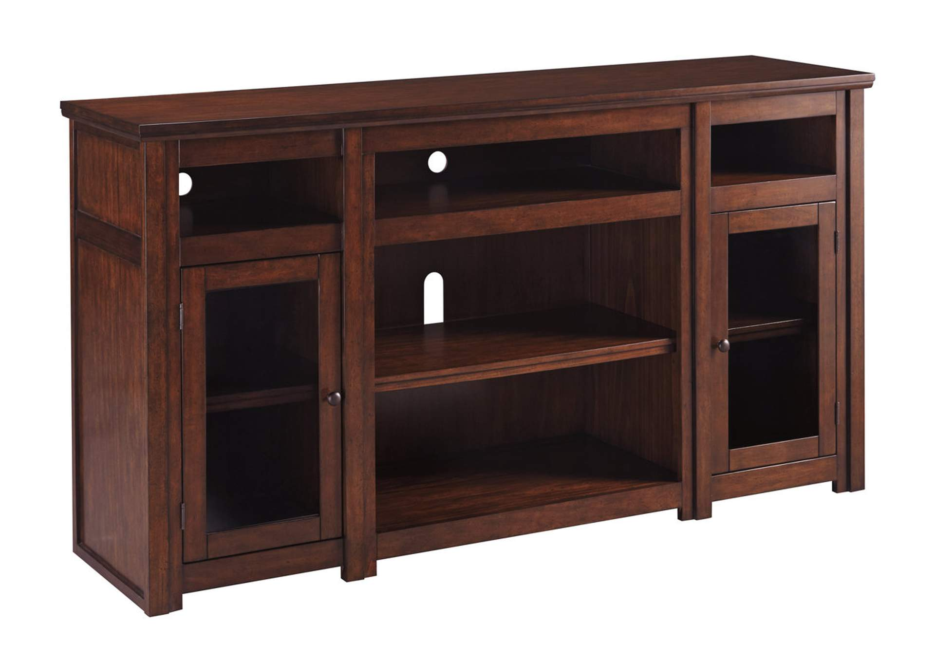 Harpan Reddish Brown Extra Large TV Stand,Signature Design By Ashley