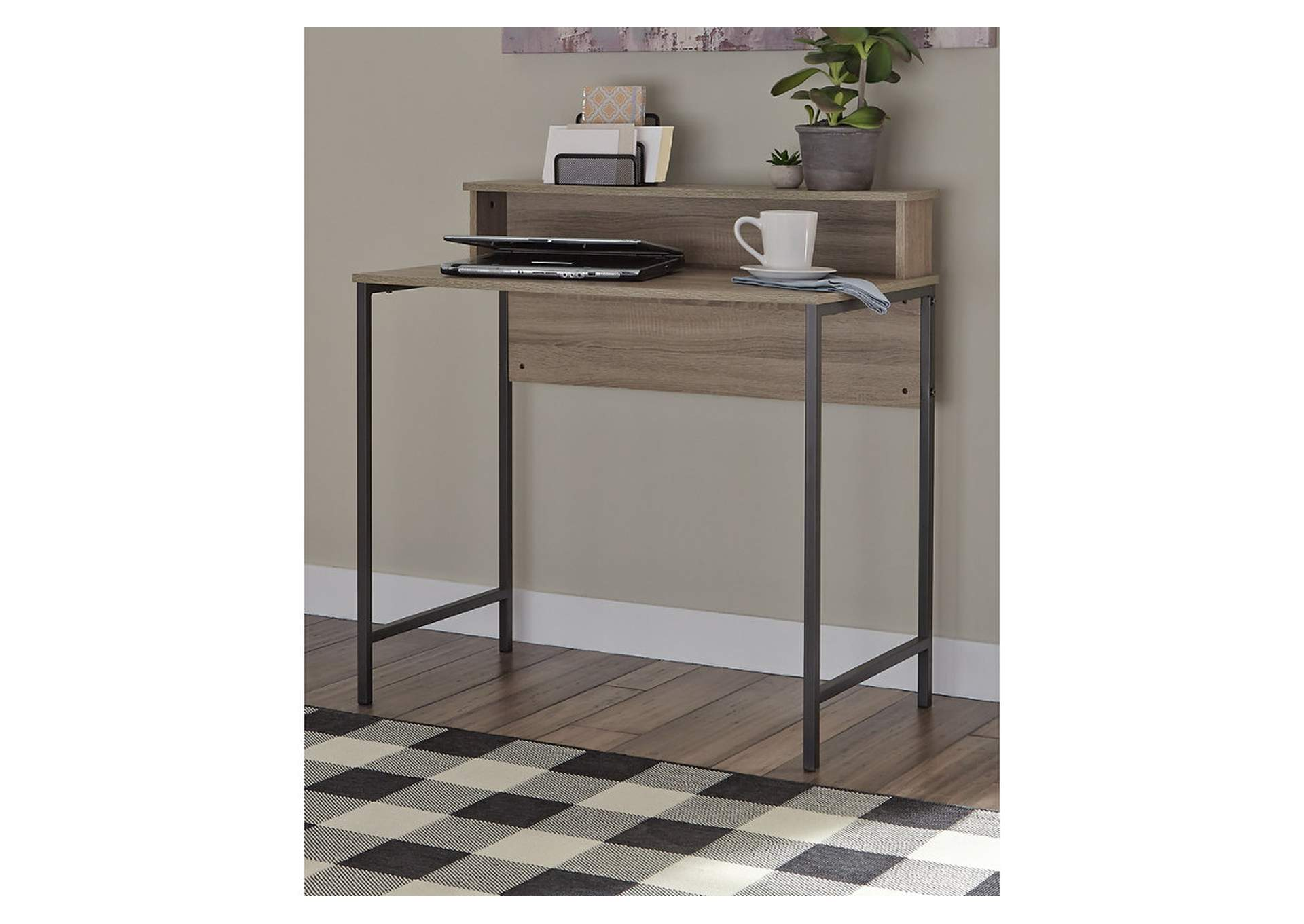 Titania Grayish Brown Home Office Desk,Signature Design By Ashley