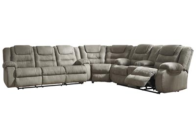 Superior McCade Cobblestone Reclining Sectional