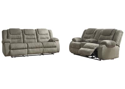 Image for McCade Cobblestone Reclining Sofa & Loveseat w/Console