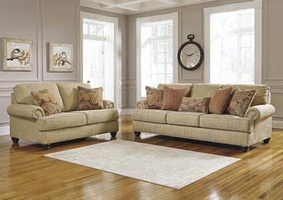 Candoro Oatmeal Sofa & Loveseat