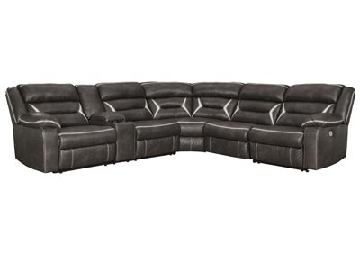 Kincord Midnight RAF Power Reclining Sectional w/Console