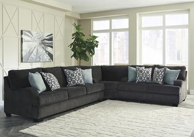 Charenton Charcoal Sofa Loveseat Sectional