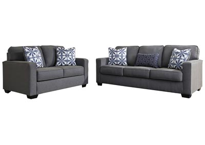 Kiessel Nuvella Steel Sofa and Loveseat