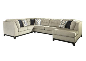 Beckendorf Chalk Left Facing Extended Sofa Sectional