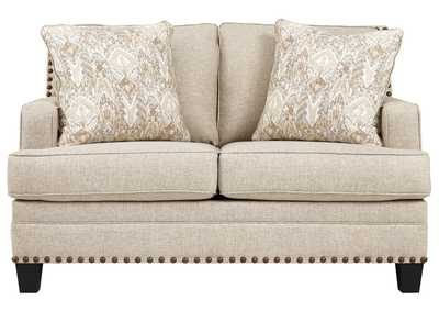 Image for Claredon Linen Loveseat