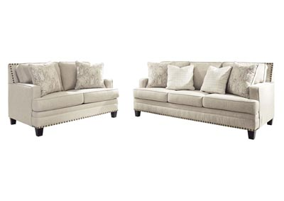 Claredon Linen Sofa and Loveseat