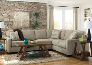 Alenya Left Facing Quartz Extended Sectional,Signature Design By Ashley