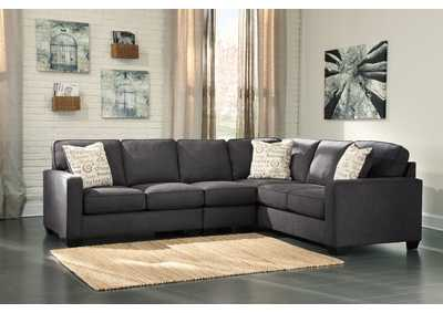 Alenya Charcoal Right Facing Extended Sectional