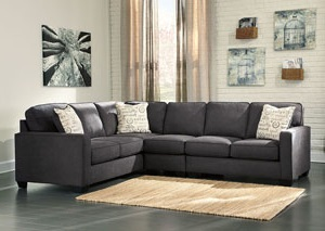 Alenya Charcoal Left Facing Extended Sectional