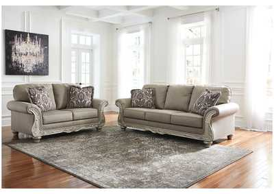 Gailian Smoke Sofa and Loveseat
