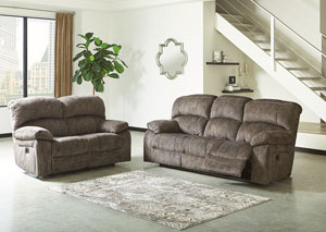 Cannelton Tri-Tone Gray Power Reclining Sofa & Loveseat