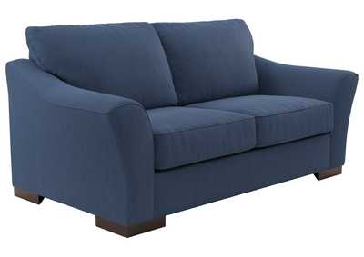 Image for Bantry Nuvella Indigo Loveseat