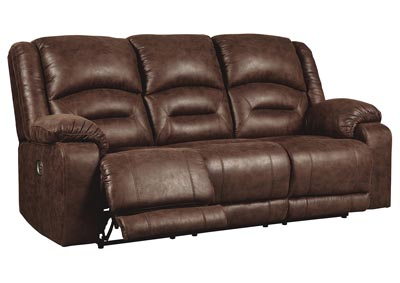Carrarse Teak Power Reclining Sofa