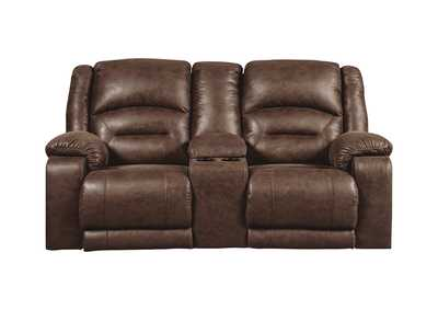 Image for Carrarse Teak Power Reclining Loveseat