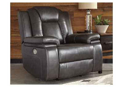 Garristown Gray Power Recliner
