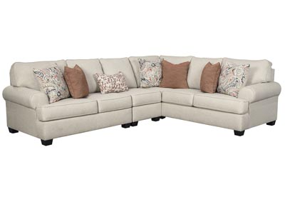 Image for Amici Linen Right-Arm Facing Sectional