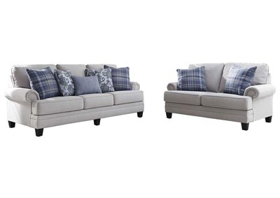 Reevesville Silver Sofa and Loveseat