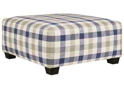 Meggett Nautical Oversized Accent Ottoman